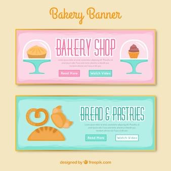 Bäckerei banner-sammlung