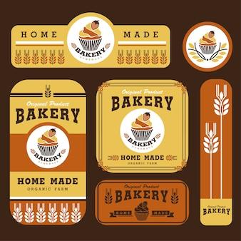 Bäckerei branding vorlage und verpackung