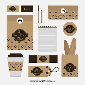 Bäckerei briefpapier-sets