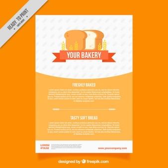 Bäckerei broschüre vorlage mit laib