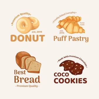 Bäckerei brot logo shop vorlage flyer vektor