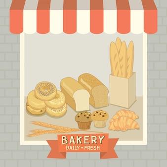 Bäckerei-café-shop