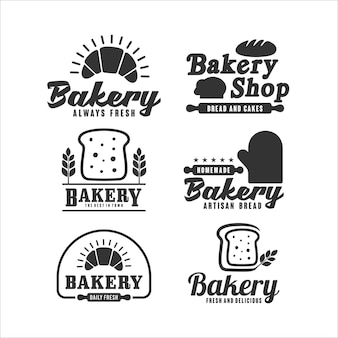Bäckerei design logo kollektion