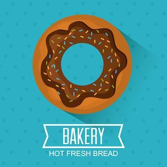 Bäckerei, dessert und milchbar design.