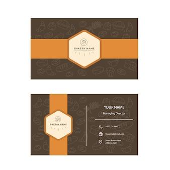 Bäckerei doppelseitiges visitenkarten-design