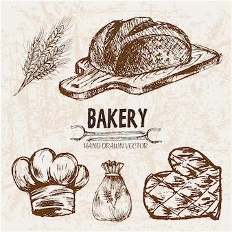 Bäckerei elemente sammlung