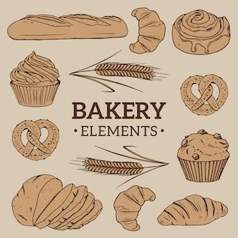 Bäckerei-elemente