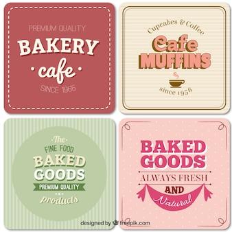 Bäckerei-etiketten im vintage-stil