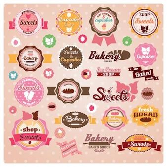 Bäckerei-etiketten sammlung