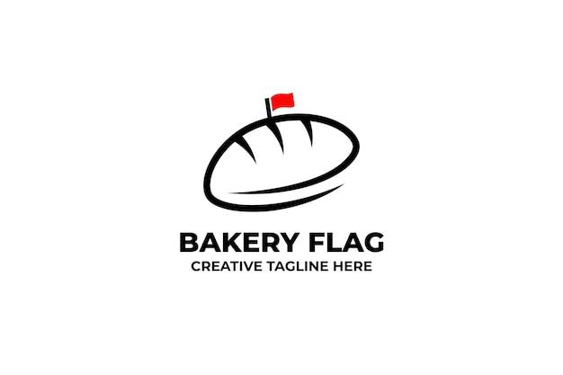 Bäckerei-flagge-brotladen-geschäftslogo