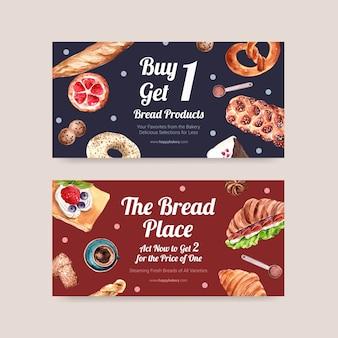 Bäckerei gutscheinvorlagen
