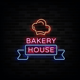 Bäckerei haus leuchtreklamen