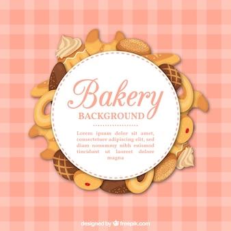 Bäckerei hintergrund mit süßigkeiten