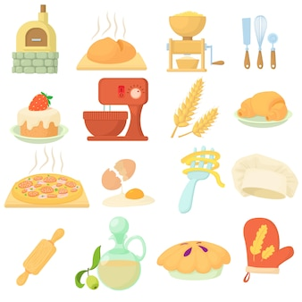 Bäckerei-icons set