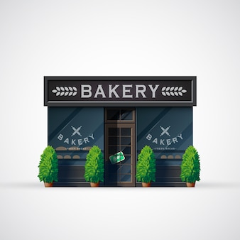 Bäckerei illustration.