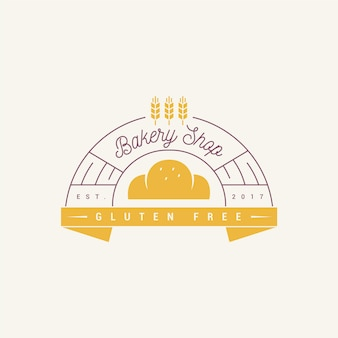 Bäckerei kuchen logo design glutenfrei