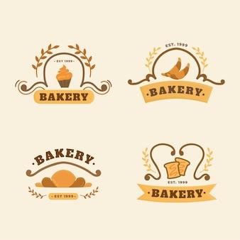 Bäckerei-kuchen-logo-konzept