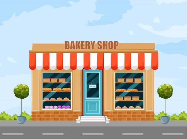 Bäckerei ladenfassade