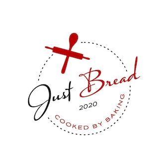 Bäckerei-logo-abzeichen einfache hausgemachte vorlage