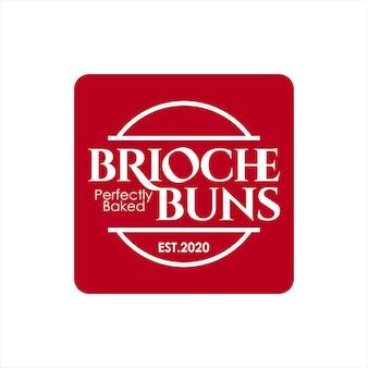 Bäckerei logo brioche brötchen gebäck abzeichen