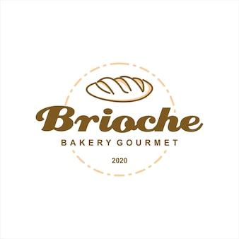 Bäckerei logo brioche gebäck abzeichen vorlage
