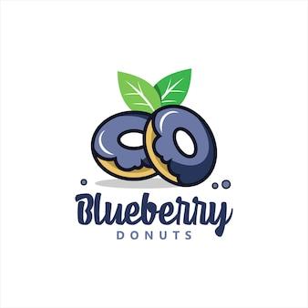 Bäckerei-logo-design mit donut-vektor