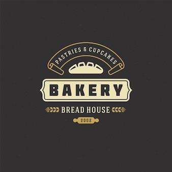 Bäckerei logo retro