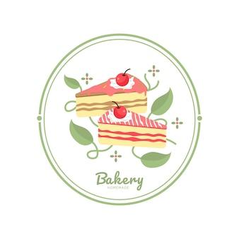 Bäckerei-logo-vorlage bäckerei-symbol logos abzeichen etiketten symbole