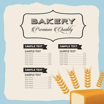 Bäckerei-menü