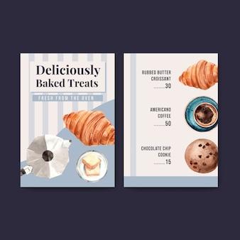 Bäckerei-menüvorlagen