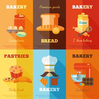 Bäckerei mini poster set