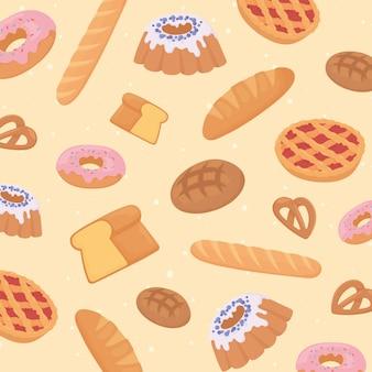 Bäckerei mit frischem brot
