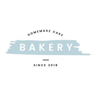 Bäckerei mit selbst gemachtem kuchenlogovektor