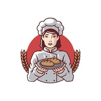 Bäckerei mutter maskottchen