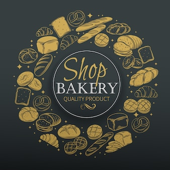 Bäckerei rund.