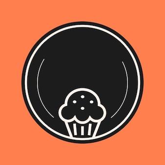 Bäckerei-symbol-element-vektor in schwarzer farbe