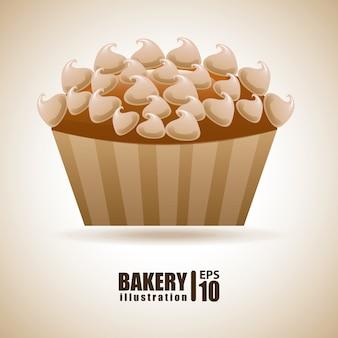 Bäckerei über beige illustration