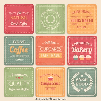 Bäckerei und café-karten