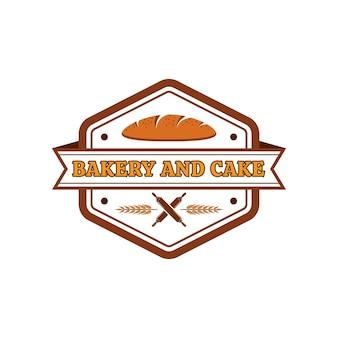 Bäckerei- und kuchenvektorlogoschablone 01