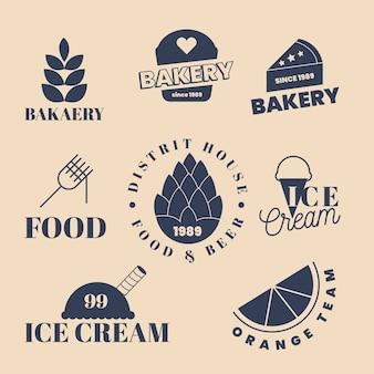 Bäckerei und sommer süßigkeiten logo