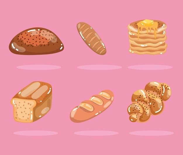 Bäckerei verschiedene brote