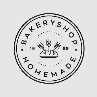 Bäckerei-vintage-logo-design