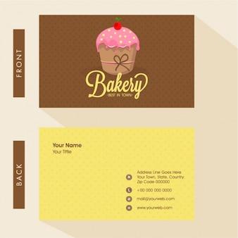 Bäckerei-visitenkarte