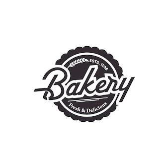 Bäckerei-weinlese-logo vector