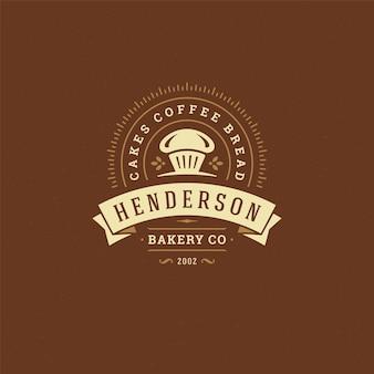 Bäckereiabzeichen oder etikett retro illustration