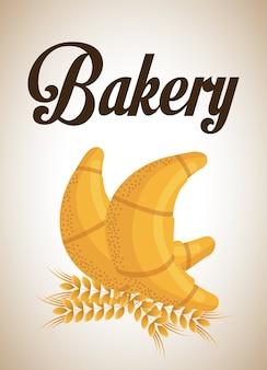 Bäckereidesign, grafik der vektorillustration eps10