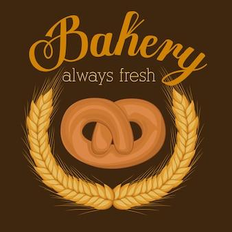 Bäckereientwurf, vektorillustration.