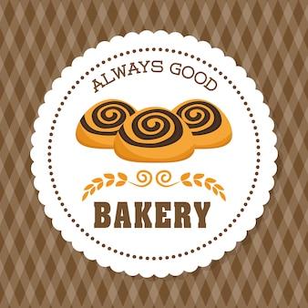 Bäckereikonzept mit ikonendesign