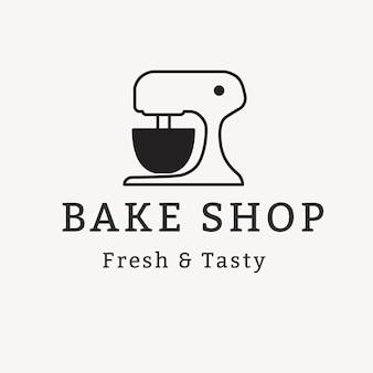 Bäckereilogo, lebensmittelgeschäftsschablone für branding-designvektor