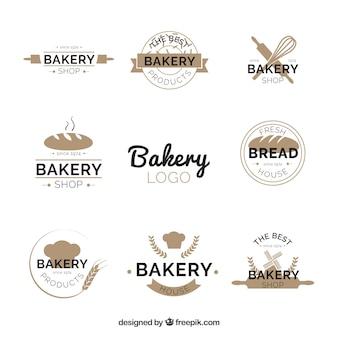Bäckereilogosammlung in der flachen art